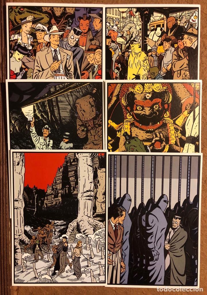 Postales: SAXXON, POR DANIEL TORRES. CARPETA CON SERIE COMPLETA (6) POSTALES NORMA EDITORIAL 1986. - Foto 4 - 199335832