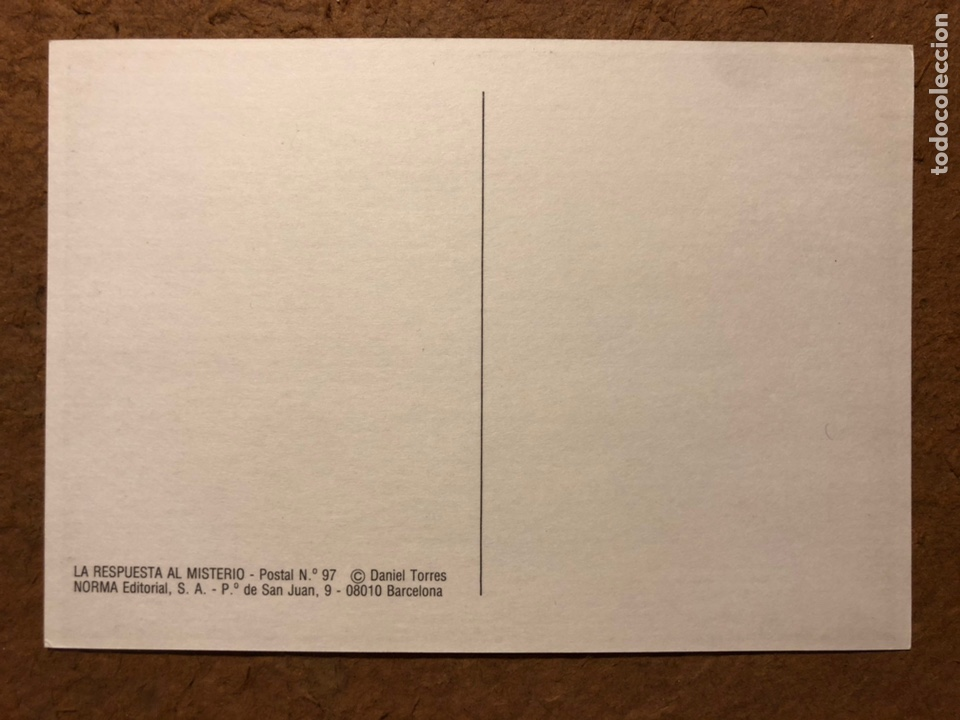 Postales: SAXXON, POR DANIEL TORRES. CARPETA CON SERIE COMPLETA (6) POSTALES NORMA EDITORIAL 1986. - Foto 6 - 199335832