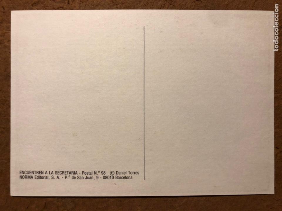 Postales: SAXXON, POR DANIEL TORRES. CARPETA CON SERIE COMPLETA (6) POSTALES NORMA EDITORIAL 1986. - Foto 8 - 199335832