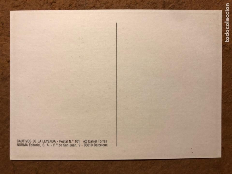 Postales: SAXXON, POR DANIEL TORRES. CARPETA CON SERIE COMPLETA (6) POSTALES NORMA EDITORIAL 1986. - Foto 14 - 199335832