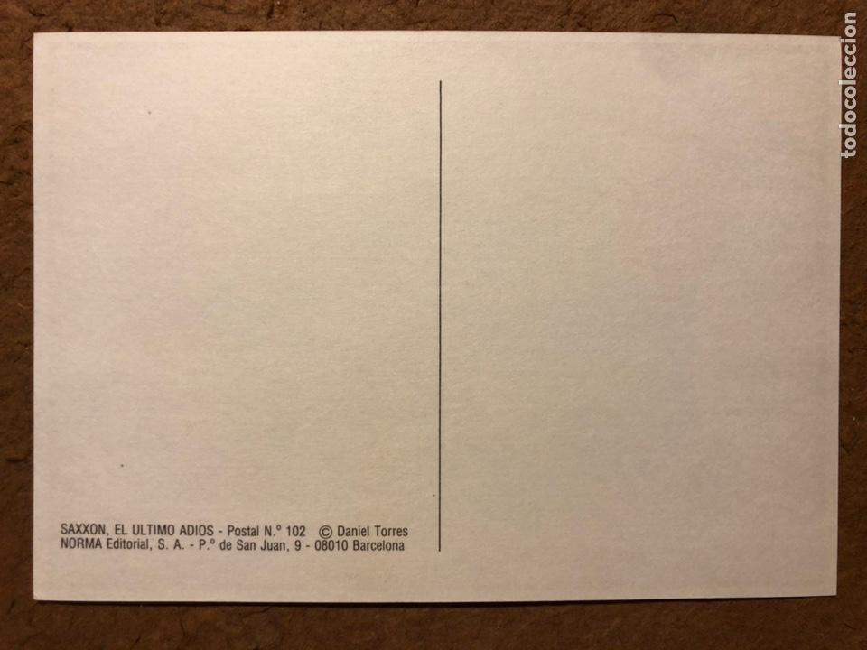 Postales: SAXXON, POR DANIEL TORRES. CARPETA CON SERIE COMPLETA (6) POSTALES NORMA EDITORIAL 1986. - Foto 16 - 199335832