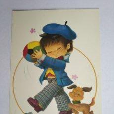 Postales: POSTAL NIÑO CON PERRO ILUSTRA DE LA ROSA CYZ 7700/27D. Lote 199776173