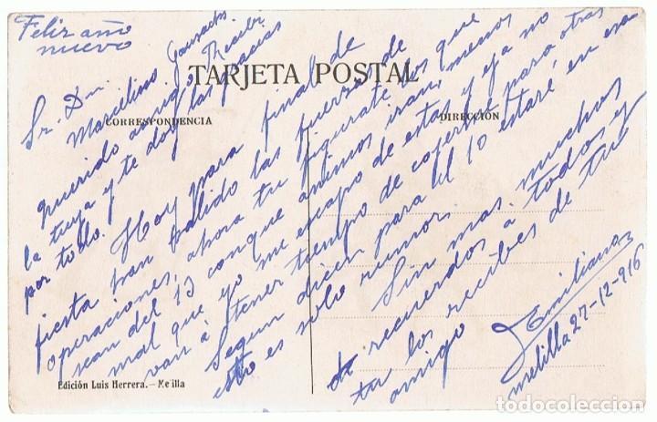 Postales: POSTAL CARICATURA RIFEÑOS CAMINO DEL ADUAR MELILLA - Foto 2 - 200622710