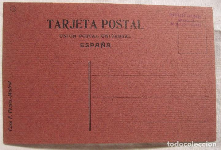 Postales: DIBUJO ORIGINAL SOBRE POSTAL CASA F. PONTES. 14 X 9 CM - Foto 3 - 201222062