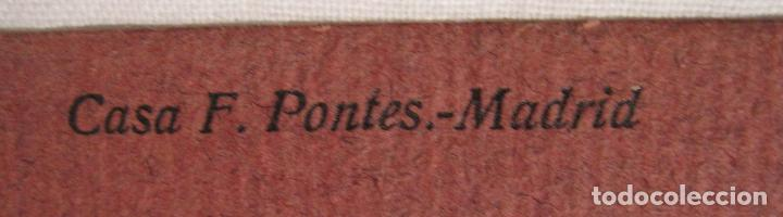 Postales: DIBUJO ORIGINAL SOBRE POSTAL CASA F. PONTES. 14 X 9 CM - Foto 6 - 201222062