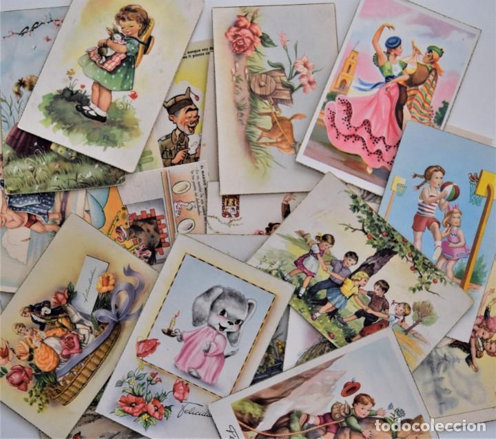 LOTE 30 POSTALES DE DIBUJOS Y CARICATURAS VARIAS DE ELLAS CON FELICIDADES (Postales - Dibujos y Caricaturas)