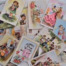 Postales: LOTE 30 POSTALES DE DIBUJOS Y CARICATURAS VARIAS DE ELLAS CON FELICIDADES. Lote 202622915