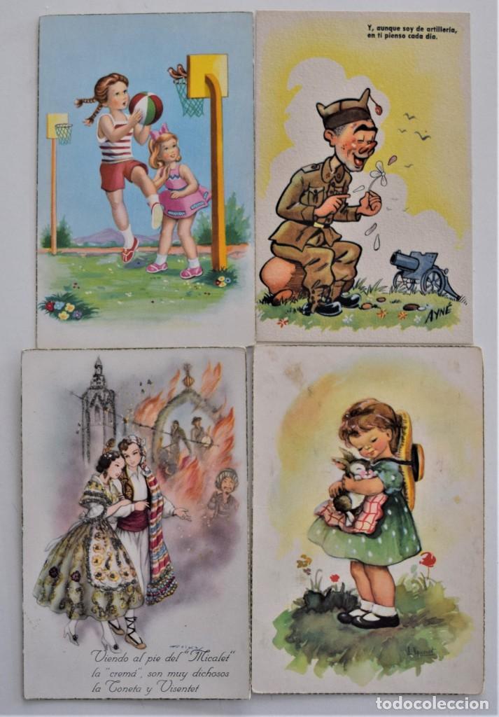 Postales: LOTE 30 POSTALES DE DIBUJOS Y CARICATURAS VARIAS DE ELLAS CON FELICIDADES - Foto 2 - 202622915