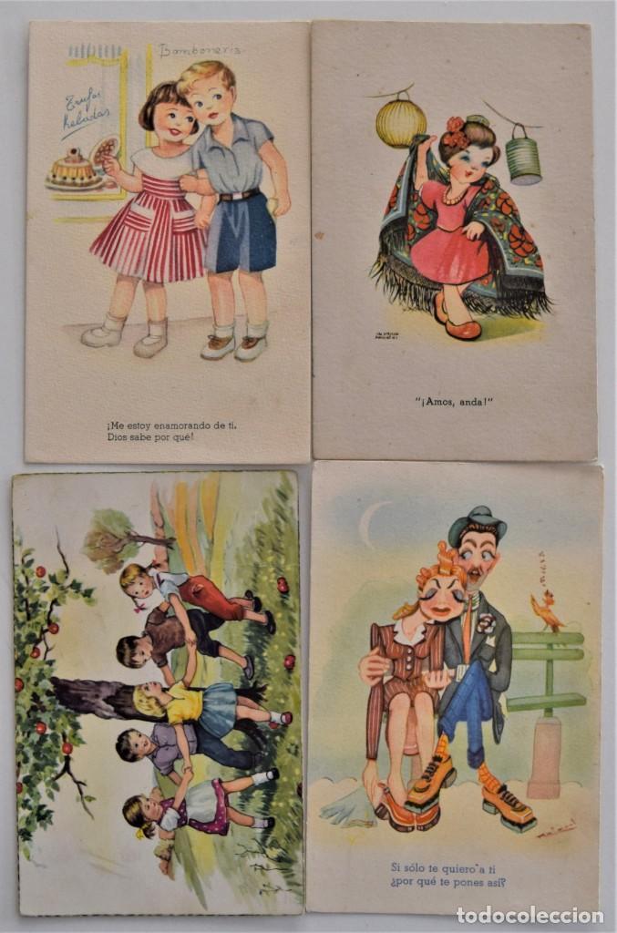 Postales: LOTE 30 POSTALES DE DIBUJOS Y CARICATURAS VARIAS DE ELLAS CON FELICIDADES - Foto 6 - 202622915