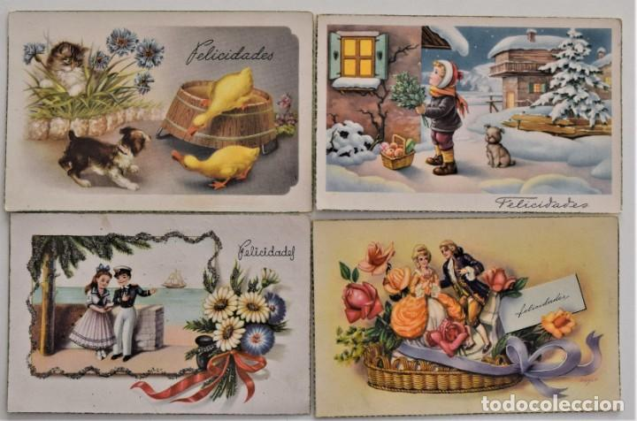 Postales: LOTE 30 POSTALES DE DIBUJOS Y CARICATURAS VARIAS DE ELLAS CON FELICIDADES - Foto 8 - 202622915