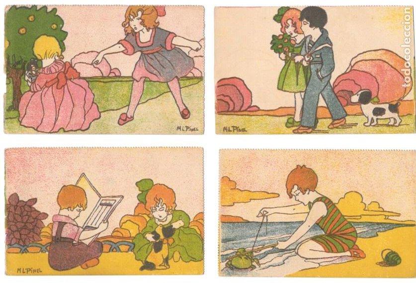 P-11482. ILUSTRACIONES INFANTILES. LOTE DE 10 POSTALES. ILUSTRACIONES M.L. PINEL. NO CIRCULADAS. (Postales - Dibujos y Caricaturas)