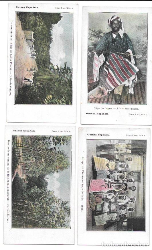 Postales: P-11483. GUINEA ESPAÑOLA. LOTE DE 9 POSTALES. SERIE J. NO CIRCULADAS. - Foto 3 - 203247111
