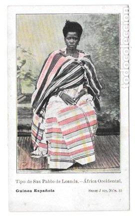 Postales: P-11483. GUINEA ESPAÑOLA. LOTE DE 9 POSTALES. SERIE J. NO CIRCULADAS. - Foto 5 - 203247111