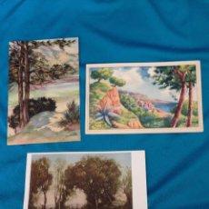 Postales: LOTE DE 3 POSTALES DE PAISAJES .SIN CIRCULAR.FENIX, ROBERTO REOESCH Y MALLORCA, CAMP DE MAR.. Lote 203286543