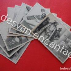 Postales: A. UTRILLO. SERIE VIA CRUCIS. COMPLETA. 14 POSTALES. SIN CIRCULAR. Lote 203368475