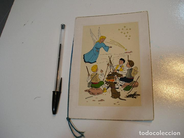 ANTIGUA POSTAL PINTADA A MANO AÑOS 50 APORTO MUCHAS FOTOS (Postales - Dibujos y Caricaturas)