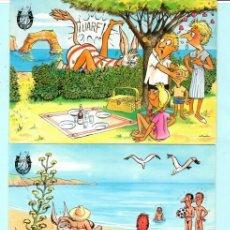 Postales: TRESE POSTELES DE DIBUJOS DE PLAY DONKET EDITO COFIBA PALMA DE MALLORCA SIN CIRCULAR. Lote 204161210
