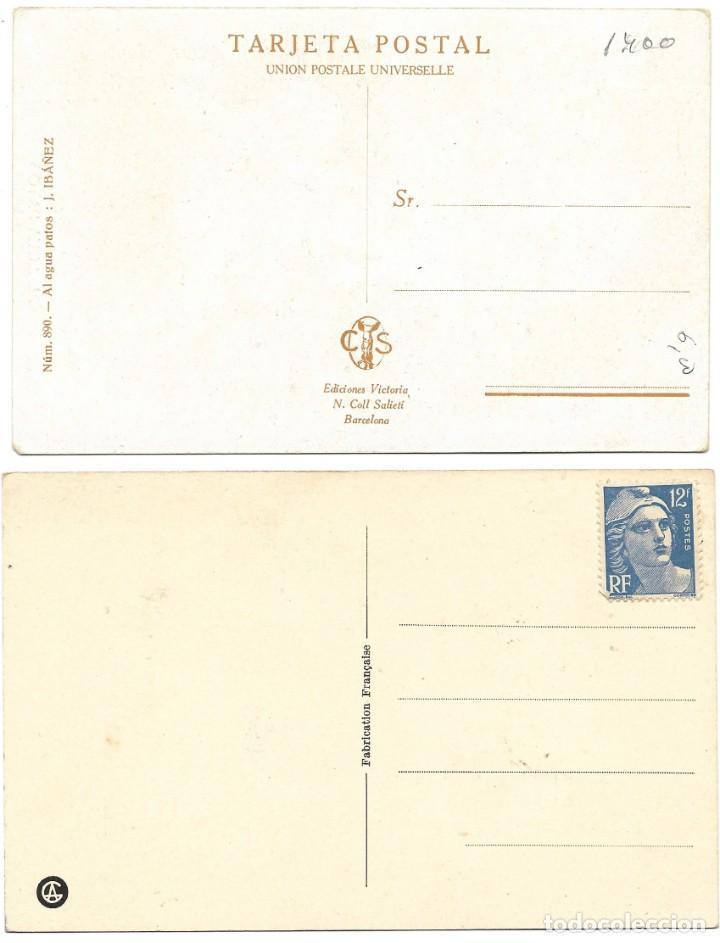 Postales: LOTE 19 POSTALES PRINCIPIOS SIGLO XX CON 9 DE ELLAS CIRCULADAS. MUY BUEN ESTADO - Foto 3 - 205435882