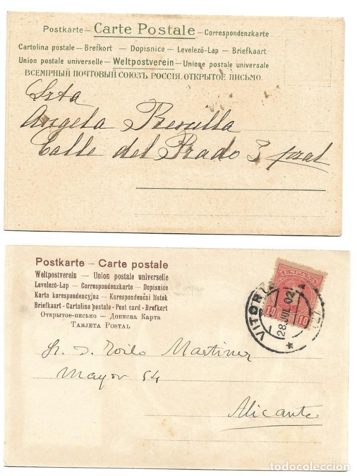 Postales: LOTE 19 POSTALES PRINCIPIOS SIGLO XX CON 9 DE ELLAS CIRCULADAS. MUY BUEN ESTADO - Foto 9 - 205435882