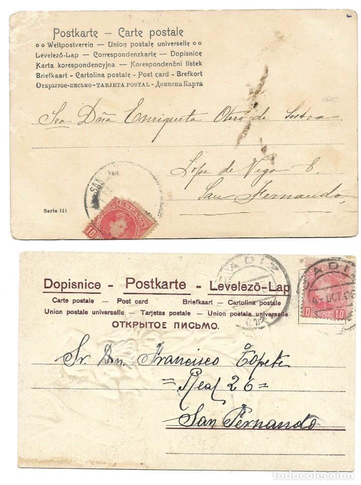 Postales: LOTE 19 POSTALES PRINCIPIOS SIGLO XX CON 9 DE ELLAS CIRCULADAS. MUY BUEN ESTADO - Foto 11 - 205435882