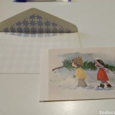 Postales: POSTAL PINTADO CON LA BOCA. Lote 205732436