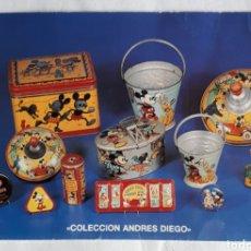 Postales: POSTAL DE MICKEY MOUSE. COLECCIONISTA ANDRES DIEGO DIESTRO. AÑOS. 80S.. Lote 206515232