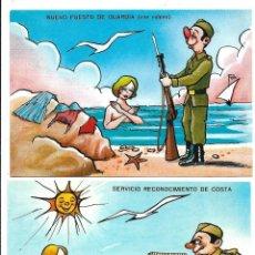 Postales: LOTE DE 10 POSTALES - DE SOLDADOS - TODAS NUEVAS. Lote 206515442
