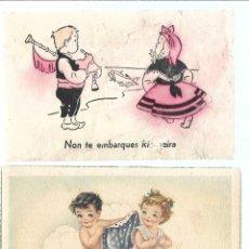 Postales: LOTE DE 10 POSTALES - DE DIBUJOS DE NIÑOS - ESCRITAS Y NUEVAS. Lote 206520128