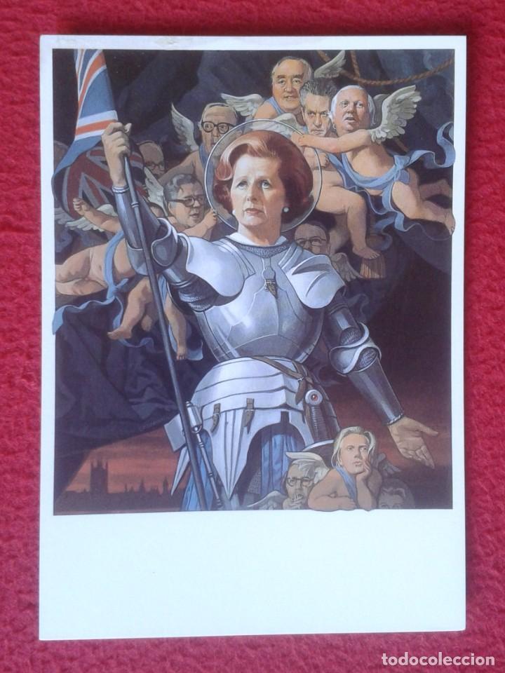 POST CARD MAGGIE MARGARET TATCHER POLITICAL SATIRE AS ST. JOAN CARICATURE CARTOON JUANA DE ARCO ?... (Postales - Dibujos y Caricaturas)