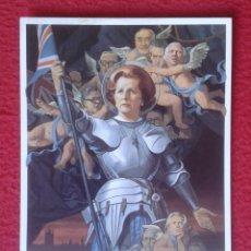 Postales: POST CARD MAGGIE MARGARET TATCHER POLITICAL SATIRE AS ST. JOAN CARICATURE CARTOON JUANA DE ARCO ?.... Lote 207049650