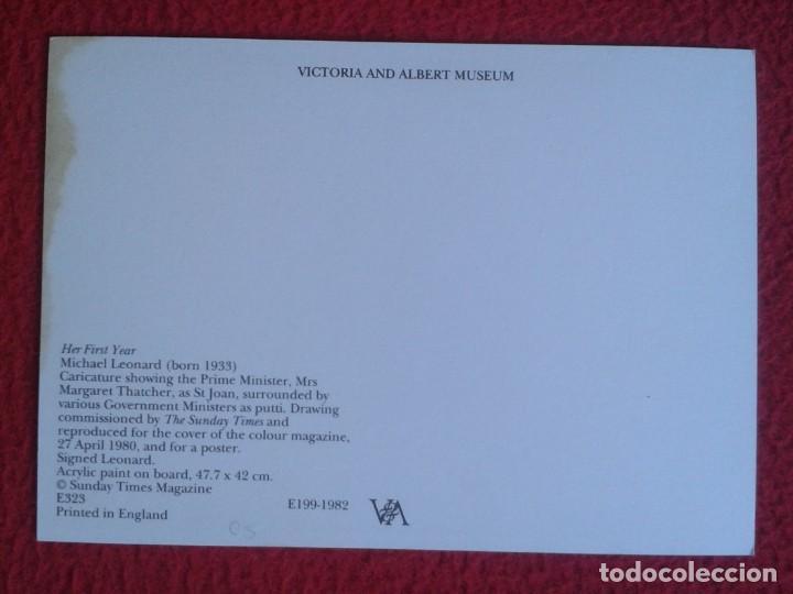 Postales: POST CARD MAGGIE MARGARET TATCHER POLITICAL SATIRE AS ST. JOAN CARICATURE CARTOON JUANA DE ARCO ?... - Foto 2 - 207049650