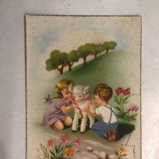 Postales: FELICIDADES. POSTAL ILUSTRADA. C. VIVES. EDITA: C Y Z , S/537 A . ESCRITA (A.1954). Lote 207136367