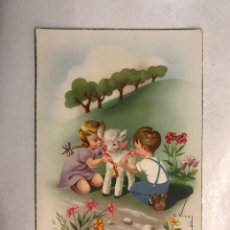 Postales: FELICIDADES. POSTAL ILUSTRADA. C. VIVES. EDITA: C Y Z , S/537 A . ESCRITA (A.1954). Lote 207136641