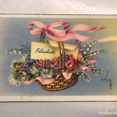 Postales: FELICIDADES. POSTAL ILUSTRADA. C. VIVES. EDITA: C Y Z , S/546 A . ESCRITA (A.1958). Lote 207136992