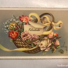 Postales: FELICIDADES. POSTAL ILUSTRADA. C. VIVES. EDITA: C Y Z , S/546 A . ESCRITA (A.1955). Lote 207137106