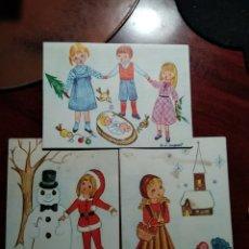 Postales: 3 POSTALES NAVIDEÑAS DIPTICAS .- ILUSTRA Mª D. MARGARIT. Lote 207271092