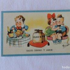 Postales: POSTAL CARICATURAS, FARINOYES ??, SALUD DINERO Y AMOR. Lote 207478148