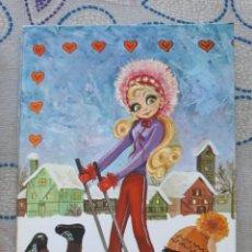 Cartes Postales: SIMPÁTICA POSTAL, A ESTRENAR AÑOS 70 REF. 303-D EDITORIAL S.J. ILUSTRACIÓN GEMA*. Lote 208493955