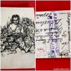 Postales: POSTAL 1938 ILUSTRACIÓN DE DUCH CENSURADA POR LA REPUBLICA TIMBRE DE MANILA. Lote 210322088