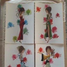 Cartes Postales: LOTE 4 SIMPÁTICAS POSTALES, A ESTRENAR AÑOS 60 Y 70 REF. 7123 CYZ LUSTRACIÓN JORDI*. Lote 210451828