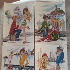Cartes Postales: LOTE 4 SIMPÁTICAS POSTALES, A ESTRENAR AÑO 1971 REF. 3047 CERBER LUSTRACIÓN ESCARRÁ*. Lote 210452487