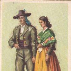 Postales: ALMERIA. SERIE POSTALES ILUSTRADAS POR TUSER TRAJES TIPICOS ED. LAIETANA. SIN CIRCULAR. Lote 210644422