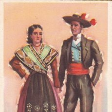 Postales: MADRID. SERIE POSTALES ILUSTRADAS POR TUSER TRAJES TIPICOS ED. LAIETANA. SIN CIRCULAR. Lote 210645629