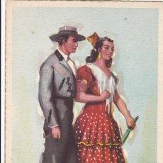 Postales: SEVILLA. SERIE POSTALES ILUSTRADAS POR TUSER TRAJES TIPICOS ED. LAIETANA. SIN CIRCULAR. Lote 210645927