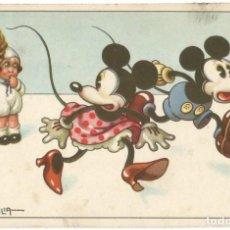 Postales: MICKEY MOUSE - A. BERTIGLIA - 1947 / MICKEY Y MINNIE MOUSE - WALT DISNEY. Lote 210988947