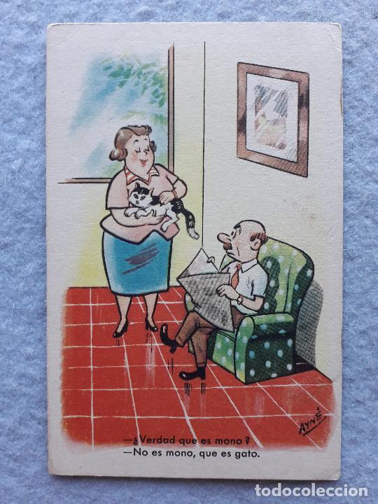 ANTIGUA POSTAL CON CHISTE. FIRMA AYNÉ. (Postales - Dibujos y Caricaturas)