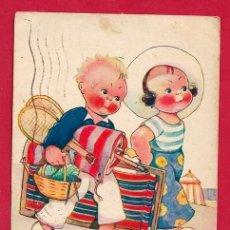 Postales: AC9O BEATRICE MALLET NINOS VACACIONES FECHA 1935. Lote 212662157