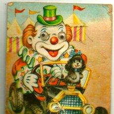 Postales: PAYASO EN COCHE - LOS OJOS SE MUEVEN - OJOS MÓVILES - CON CHIFLE. Lote 213786711