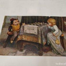 Postales: AJEDREZ - POSTAL LA PARTITA A SCACCHI. Lote 213874415