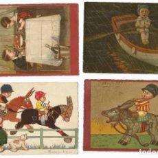 Postales: LOTE 7 POSTALES ANTIGUAS - NIÑOS - ILUSTRADOR COLOMBO. Lote 213879928